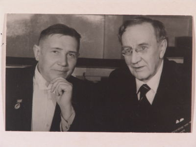 Н.С. Голованов  и В.И. Качалов