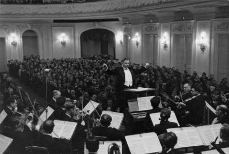 Н.С. Голованов на концерте в Большом зале Московской консерватории.